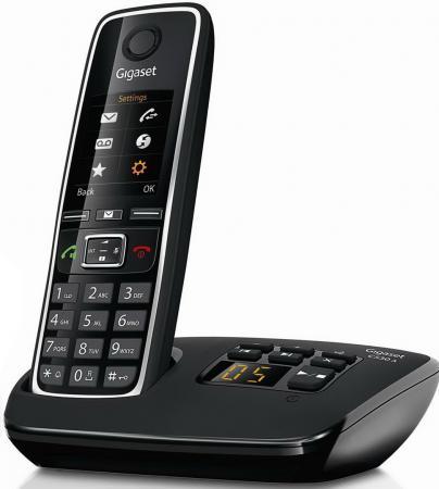 Радиотелефон DECT Gigaset C530A черный радиотелефон gigaset c530a ip s30852 h2526 s301