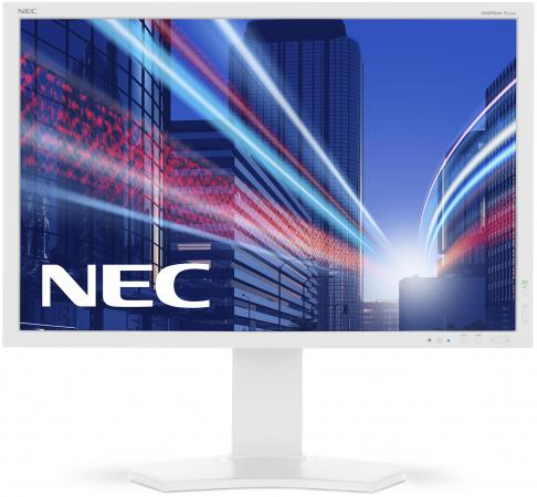 Монитор 24 NEC MultiSync P242W серебристый белый IPS 1920x1200 350 cd/m^2 8 ms DVI HDMI DisplayPort VGA Аудио монитор nec 24 accusync as242w as242w