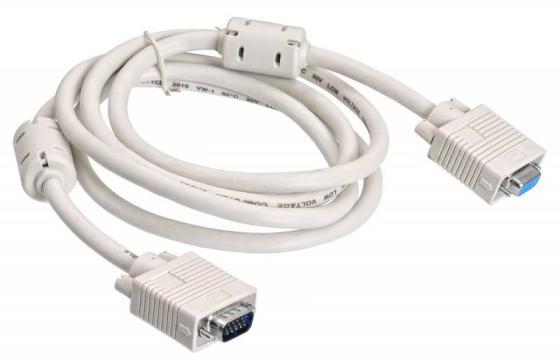 Фото - Кабель VGA 1.8м BURO CAB015S-06 круглый серый кабель удлинитель buro cab015s 06 vga m vga f 1 8м феррит кольца серый