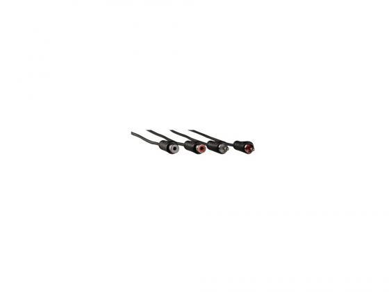 Кабель соединительный 10.0м Hama 2xRCA (M) - 2xRCA (F) позолоченные контакты черный 00122279 кабель соединительный 0 5м hama 3 5 jack m 3 5 jack m позолоченные контакты черный 00173871