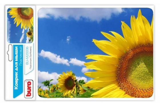 Коврик для мыши Buro BU-M20036 пластик поле подсолнухов puzzle 1000 поле подсолнухов кб1000 6897