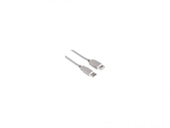 Кабель удлинительный USB 2.0 AM-AF .5м Hama серый -53726