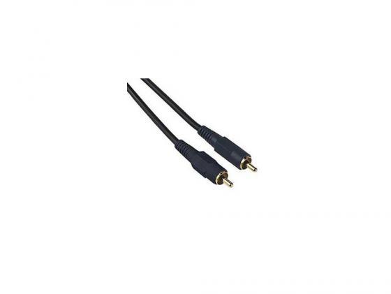 Кабель соединительный 0.75м Hama RCA (M) - RCA (M) позолоченные контакты двойное экранирование черный H-42720 кабель соединительный 0 5м hama 3 5 jack m 3 5 jack m позолоченные контакты черный 00173871
