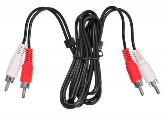 Кабель соединительный 1.5м Buro 2xRCA (M) - 2xRCA (M) черный BAAC024-1.5 кабель 2xrca audioquest evergreen everg01 5r
