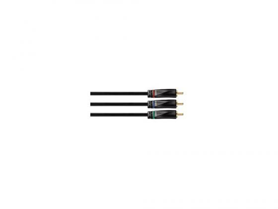 Кабель соединительный 2.0м Hama Avinity 3xRCA(M)-3xRCA(M) позолоченные контакты черный H-107479 кабель соединительный 0 5м hama 3 5 jack m 3 5 jack m позолоченные контакты черный 00173871