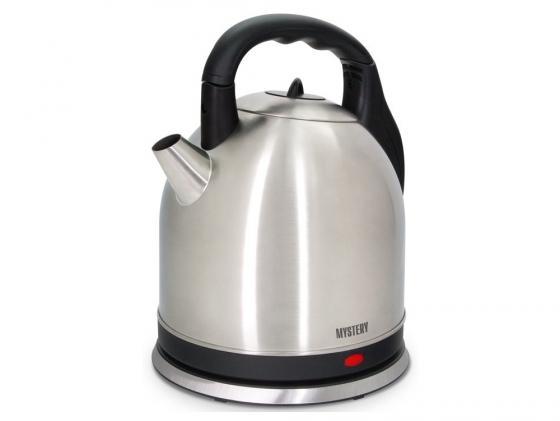 Чайник MYSTERY MEK-1635 2000 Вт 3.5 л металл серебристый чайник mystery mek 1601 1800 вт серебристый чёрный 1 7 л нержавеющая сталь