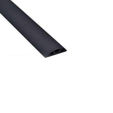 ДКС 01333 In-Liner Front Напольный канал 75х17 мм, 2-секционный, 1 перегородка, черный 2м