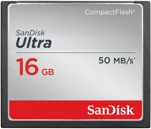 Карта памяти Compact Flash Card 16Gb SanDisk SDCFHS-016G-G46