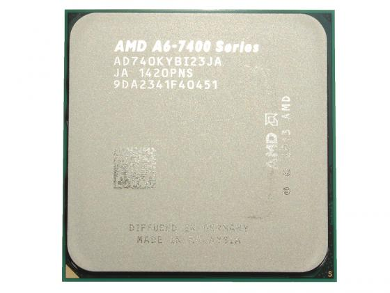 Процессор AMD A6 X2 7400K 3.5GHz 1Mb AD740KYBJABOX Socket FM2 BOX процессор amd athlon ii x4 845 fm2