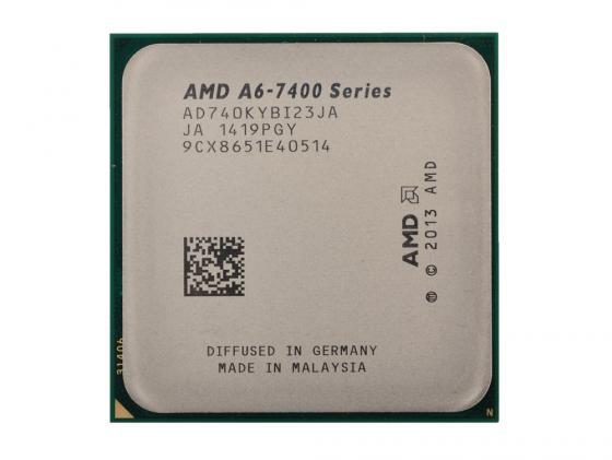 Процессор AMD A6 X2 7400K 3.5GHz 1Mb AD740KYBI23JA Socket FM2 OEM процессор amd a6 7400k black edition oem
