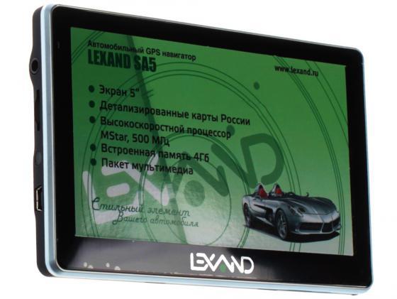 Навигатор LEXAND SA5 HD 5 800х480 4Gb microSD черный Navitel lexand a1 basic black