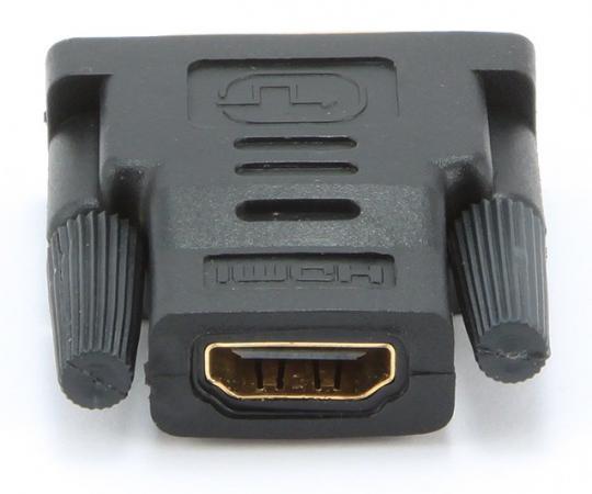 Переходник HDMI F - DVI M Gembird золотые разъемы пакет A-HDMI-DVI-2 переходник ningbo hdmi m dvi d f позолоченные контакты черный cab nin hdmi m dvi d f