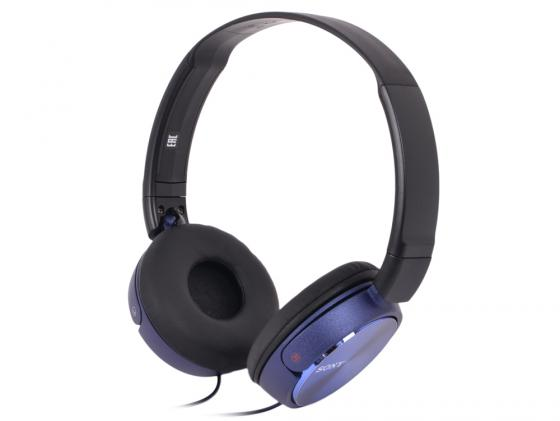 Гарнитура Sony MDR-ZX310AP синий наушник sony mdr zx310ap черный