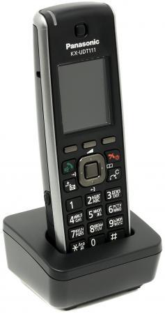 Телефон IP Panasonic KX-UDT111RU SIP DECT черный
