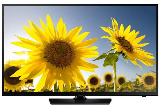 Телевизор LED 24 Samsung UE24H4070AUX черный 1366x768 100 Гц HDMI USB телевизор samsung ue24h4070aux