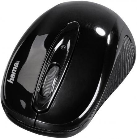 Мышь беспроводная HAMA AM-7300 чёрный USB + радиоканал 86537 мышь hama am 7300 фиолетовый оптическая 1000dpi беспроводная usb для ноутбука 2but