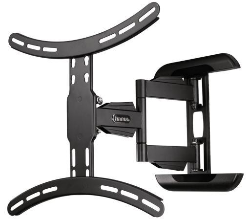 Кронштейн HAMA 118619 XL черный для ЖК ТВ 56 настенный VESA 400x400 max 25 кг