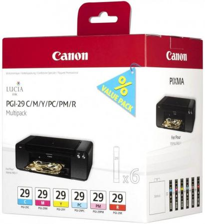 Набор картриджей Canon PGI-29 CMY/PC/PM/R Multi для PRO-1 цена