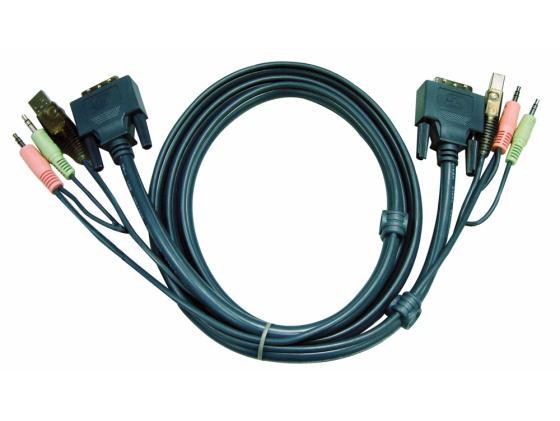 Кабель ATEN 2L-5303U HD15M/USBM/SP/SP-SPHD15M 3M кабель aten 2l 5303u hd15m usbm sp sp sphd15m 3m