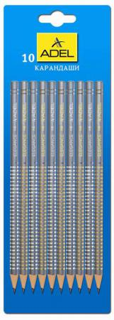 Карандаш чернографитный Adel ELEGANCE HB серый 10шт 205-1162-004