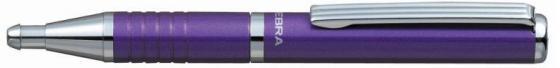 Шариковая ручка Zebra SLIDE BP115-PU синий 0.7 мм 23478 novatrack zebra 12 2015 red white