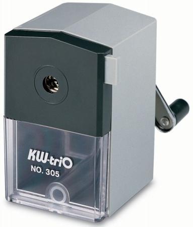 Точилка KW-trio 305AGR пластик серый точилка для карандашей kw trio 30h2 электрическая черный