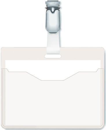 Бейдж Durable горизонтальный 90x60мм вращающийся клип 25шт 810619 бейдж durable 8002 19 90х60мм вертикальный зажим вращающийся пвх прозрачный упак 25шт