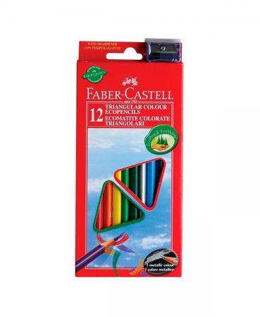 Карандаши цветные Faber-Castell Eco 12 цветов точилка 120523/102512