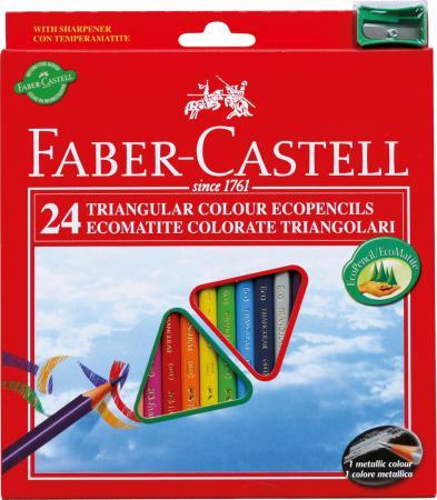 Набор цветных карандашей Faber-Castell Eco с точилкой 24 шт 120524