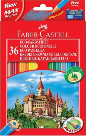 Набор цветных карандашей Faber-Castell Eco Замок с точилкой 36 шт 120136 faber pareo