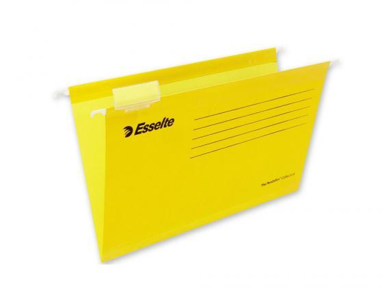 Папка подвесная Esselte Pendaflex Plus Foolscap 405x365x242мм 25шт желтый 90335 папка регистратор esselte economy 10782p a4 75мм желтый