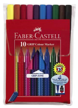 Набор фломастеров Faber-Castell Grip 0.4 мм 10 шт разноцветный 155310