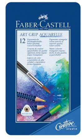 Набор цветных карандашей Faber-Castell Art Grip Aquarelle 12 шт акварельные 114212 карандаши цветные акварельные faber castell art grip aquarelle 114212 12цв мет кор