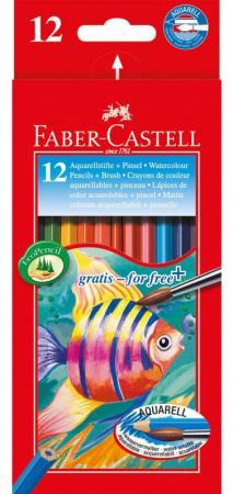 Набор цветных карандашей Faber-Castell Colour Pencils 12 шт акварельные 114413 faber castell акварельные карандаши рыбки с кисточкой 36 шт