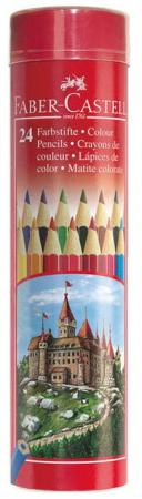 Набор цветных карандашей Faber-Castell Colour Pencils 24 шт 115827 faber castell 3 holes professional pencil sharpener for wood pencils painting supplies 1838