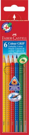 Набор цветных карандашей Faber-Castell Grip 2001 6 шт акварельные 112406 карандаши цветные faber castell grip 2001 6 цветов 112406