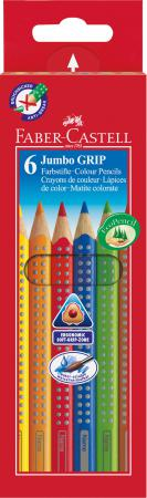 Набор цветных карандашей Faber-Castell Jumbo Grip 6 шт 110906 набор карандашей faber castell grip 2001 с ластиком цвет красный 2 шт