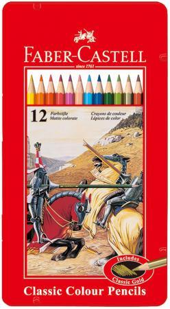 Набор цветных карандашей Faber-Castell Рыцарь 12 шт 115844 faber castell набор угольных карандашей pitt 3 шт