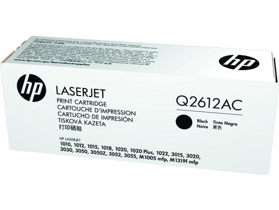 Фото - Картридж HP Q2612AC для LaserJet 1010 1012 1015 1018 1020 1022 2000 черный картридж easyprint c exv18 для canon ir 1018 1020 1022 1023 1024 черный 8400стр