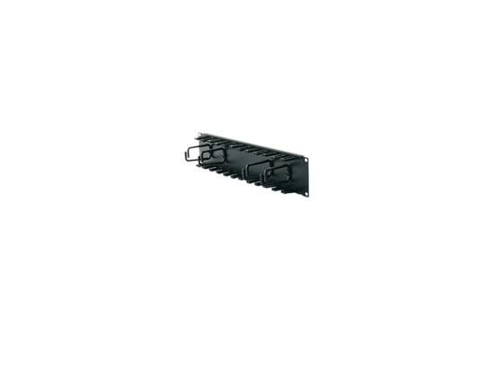 лучшая цена Кабельный органайзер APC 2U Patch Cord Organizer Black AR8427A