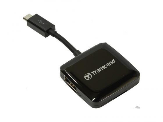 Картридер внешний Transcend TS-RDP9K SDXC SDHC SD microSDXC microSDHC microSD черный картридер внешний hama h 39871 usb 3 0 usb 2 0 поддерживает sd sdhc sdxc microsd microsdhc microsdxc черный
