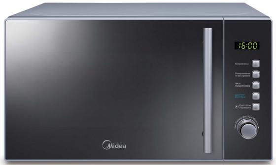 Микроволновая печь Midea AM820CMF 800 Вт серебристый midea am820cmf микроволновая печь