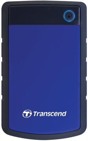 Внешний жесткий диск 2.5 USB3.0 1 Tb Transcend StoreJet 25H TS1TSJ25H3B черно-синий внешний жесткий диск storejet 25d3 1 тб ts1tsj25d3w белый