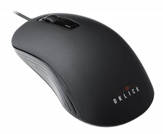 лучшая цена Мышь проводная Oklick 155M чёрный USB