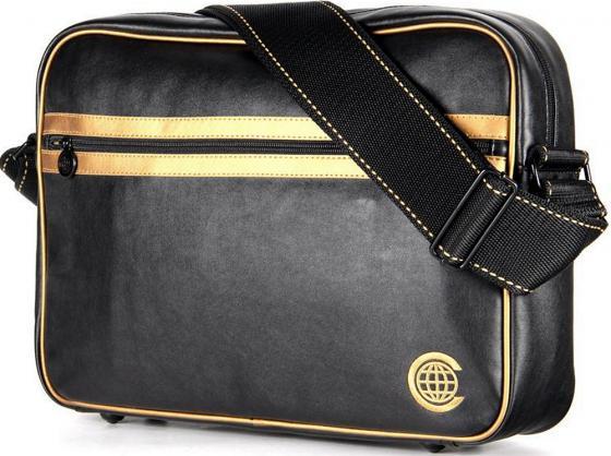 """Сумка для ноутбука 15"""" Continent CC-065 чёрно-золотая цена и фото"""