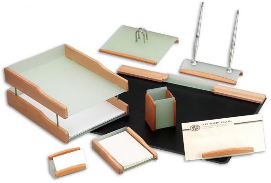 Настольный набор Good Sunrise 8 предметов деревянный LG/BH8AC-1A настольный канцелярский набор good sunrise m5b 5 5 предметов цвет красный