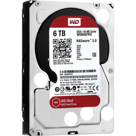 Жесткий диск 3.5 6 Tb 5400rpm 64Mb cache Western Digital Red SATAIII WD60EFRX