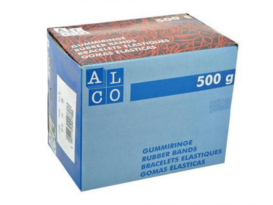 Резинки для купюр Alco диаметр 65 мм 500г красные в картонной упаковке carcam alco 6000