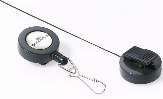 Рулеточный крепеж для бейджа Durable с карабином 10шт 822158 calligrata лента для бейджа с карабином цвет зеленый