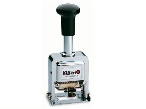 Нумератор KW-trio автоматический 8 разрядов высота цифр 3.7мм металлический 20800 цены онлайн